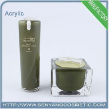 New design wholesale cosmetic packaging lotion bottle acrylic jars acrylic packaging