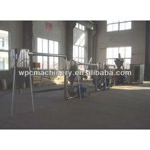 wood plastic granulating production line