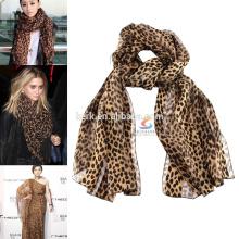 Leopard bohemia lady's fashionable pashmina shawl scarf muslim hijab