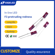 F3 inner convex red hair red light-emitting diode