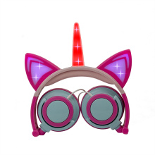 LED light earphone headset aviation plastic earphones