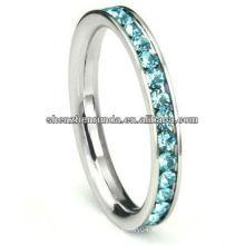 Joyería caliente de la manera del anillo de la CZ del color de los anillos de bodas de los artículos de la venta