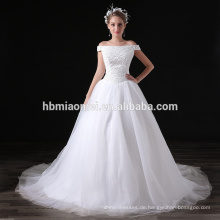 2017 hohe Qualität Günstigen Preis Weiß Chiffon Pailletten Off-schulter Abend Langes Kleid Für Hochzeit