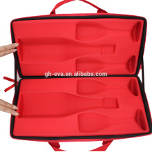 Dual bottles leather wine carrying case wine gifts box for wine bottles