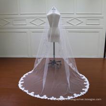 Один слой красивая Свадебная фата