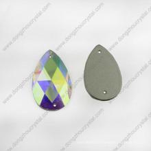 Стекло опускное ювелирный камень плоской задней части для оптовой продажи