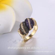 Wholesale fashion black plating ring from China ring manufacturer