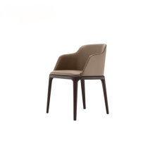 Appuie-glace Poliform Leather Grace Dining Chair