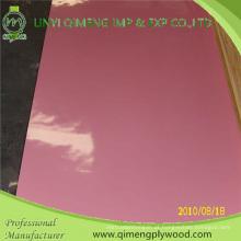 Madeira compensada cor-de-rosa do poliéster de 1.6mm 2.2mm 2.6mm para o mercado de Indonésia