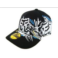 Гоночная кепка 100% хлопок Allover Printing Caps Кривая Пик хип-хоп Dance
