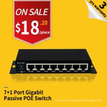 Passif PoE 8 ports 24V 48V réseau