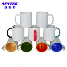 11oz Multi-Color C-Handle Ceramic Coated Sublimation Coffee Mug