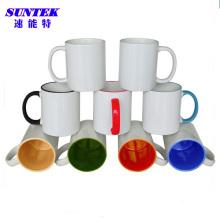 Caneca de café revestida cerâmica do Sublimation do C-punho da Multi-Cor 11oz