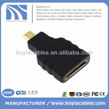 Gold Plated HDMI Female to Micro HDMI Male adapter Coupler