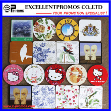 Best Selling Logo Printed Top Quality Cork Coaster (EP-C57301)