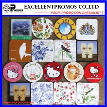 Melhor vendido logotipo impresso Top Coaster qualidade Cork (EP-C57301)