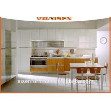 Combinación de colores mfc gabinete de cocina gabinete de cocina de ahorro de espacio para la cocina pequeña