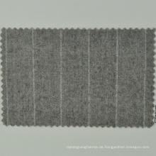 Natürliche umweltfreundlich beige Streifen Farbe Merinowolle italienische Marke Loro Cadini Stoff für Herren Tücher