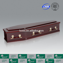 LUXES Australian Style MDF Coffins With Mahogany Paper