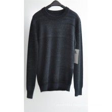 100%Cashmere Long Sleeve Round Neck Knitting Sweater for Men