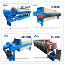 Filtro prensa para desaguamento de lamas