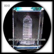Modelo de construcción láser K9 3D Rectángulo interior de cristal
