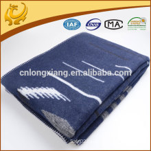 Hot Selling Woven Strip 100% Cashmere Throw Blanket