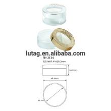 Cas de la poudre libre cosmétiques en plastique