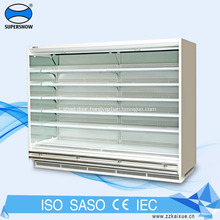 Dairy Glass Wall Display Refrigerated Showcase