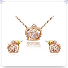 Joyas de cristal joyería de aleación joyería de moda conjunto (ajs162)