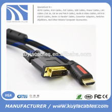 1080p 5ft / 1.5M Câble HDMI vers DVI24 + 1 Cordon pour PS3 Blu-ray DVD HDTV LCD 1080P XBOX