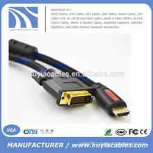 Кабель 1080p 5 футов / 1,5 М HDMI - кабель DVI24 + 1 для PS3 Blu-ray DVD HDTV LCD 1080P XBOX