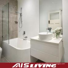 Alta vanidad del espejo de los gabinetes de baño de la laca del lustre (AIS-B011)