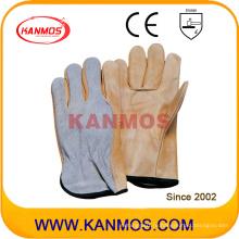 PPE Cow Split Back Cow Grain Drivers Кожаные рабочие перчатки для промышленной безопасности (12206)