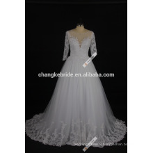 2017 New Arrival Long Sleeve Wedding Dress Floor Length Princess Bridal Dress