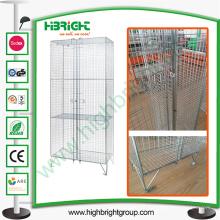 Armario de almacenamiento de malla de alambre para trabajos