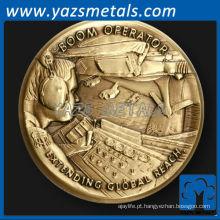 personalize moeda de metal, Operador de Boom, Moeda de desafio da Força Aérea