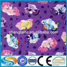 Impressão tecido de flanela de tecido bebê tc