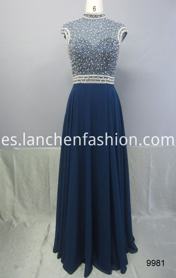 High Neck Evening Dress