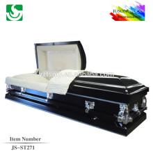 JS-ST271 de haute qualité à bas prix cercueil étrangers fourniture cercueil métallique ventes