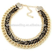 Wholesale metal chain joker black metal chain necklace