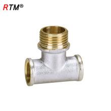 B17 3 way bronze fittinhigh tubulação de bronze de bronze de união de encaixe de redução T
