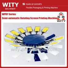 Máquina de impressão semi-automática da tela da matéria têxtil (máquina da impressão da tela do shrit do T)