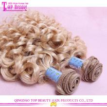 Venda por atacado cabelo encaracolado extensões não processada 100% russa cabelo virgem