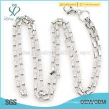 New arrival pure silver chian necklace,women fashion jewelry simple necklace