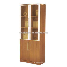 hot sell melamine bookcase, fireproof antique wooden file cabinet