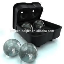 Fabricante da esfera do gelo, molde superior da esfera do gelo, bolas de gelo derreter lentamente sem dilatar suas bebidas