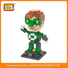 LOZ 9454 Мини-зеленый фонарь Супер герой алмазный пластик строительный блок обучающая игрушка
