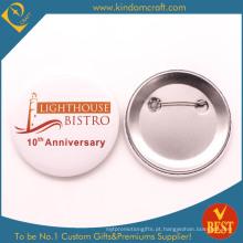 Emblema do botão do estanho do aniversário do bistrô de China