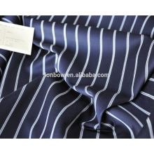 Abraão lua moda stripe lã de algodão misturado tecido para blazer
